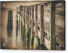 The Wooden Pier Acrylic Print by Carol Japp