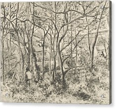 The Woods At L'hermitage, Pontoise Acrylic Print