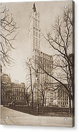 The Woolworth Building, New York. From Acrylic Print by Vintage Design Pics