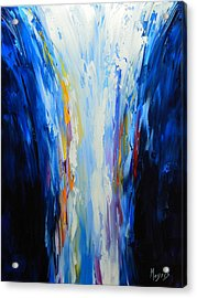 The Word Made Flesh, God Poured Out Acrylic Print by Mike Moyers