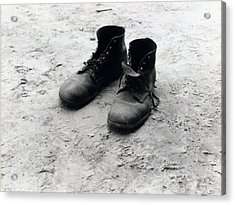 The Work Boots Of Foyd Burroughs Acrylic Print by Everett