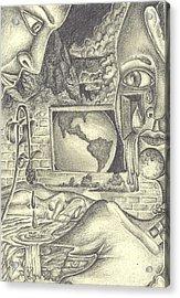 The World Cries Acrylic Print by Karen Musick