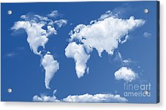 The World In The Clouds Acrylic Print by Bedros Awak