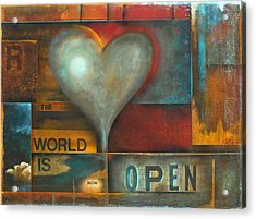 The World Is Now Open Acrylic Print by Stephen Schubert