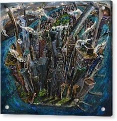 The Worlds Capital Acrylic Print by Antonio Ortiz