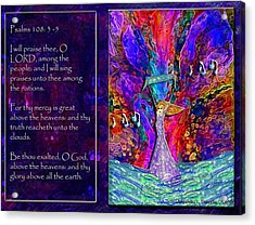 The Worshipping Heart And The Anointing Of Colors Acrylic Print by Cassandra Donnelly