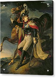 The Wounded Cuirassier Acrylic Print by Theodore Gericault