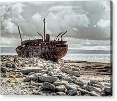 The Wreck Of Plassey Acrylic Print