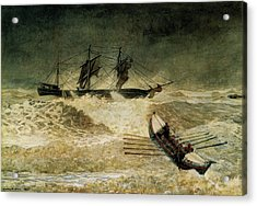 The Wreck Of The Iron Cloud, 1881 Acrylic Print by Winslow Homer