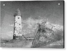 The Wrecks  Acrylic Print by Steev Stamford