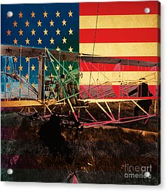 The Wright Bothers An American Original Acrylic Print by Wingsdomain Art and Photography