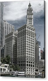 The Wrigley Building Acrylic Print by Alan Toepfer