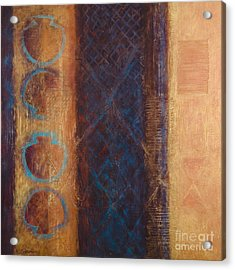 Acrylic Print featuring the painting The X Factor Alchemy Of Consciousness by Kerryn Madsen-Pietsch
