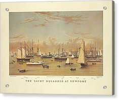 The Yacht Squadron At Newport Acrylic Print