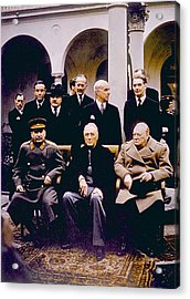 The Yalta Conference, Seated Joseph Acrylic Print by Everett