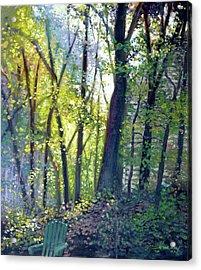 The Yard - Summer Dawn Acrylic Print by Gregg Hinlicky