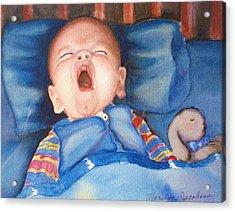 The Yawn Acrylic Print by Marilyn Jacobson