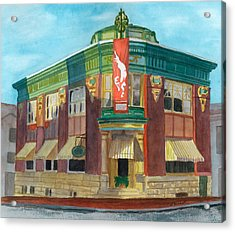 The Yellow Brick Bank Restaurant Acrylic Print