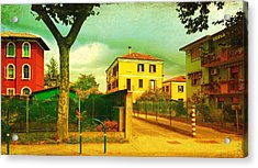 Acrylic Print featuring the photograph The Yellow House by Anne Kotan
