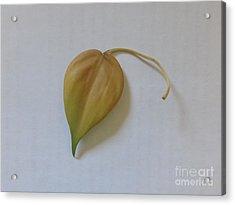 The Yellow Leaf - Homage To Macbeth Acrylic Print