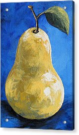 The Yellow Pear II Redux Again Acrylic Print by Torrie Smiley