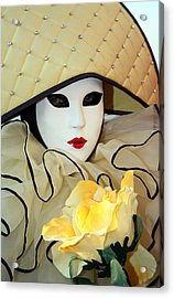 The Yellow Rose Acrylic Print by Donna Corless