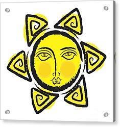 The Yellow Sun.. Png Acrylic Print