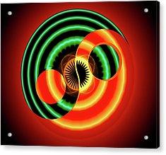 The Yin And The Yang Acrylic Print by Mario Carini