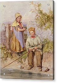 The Young Anglers Acrylic Print by James Hardy Junior
