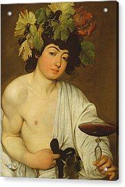 The Young Bacchus Acrylic Print by Caravaggio