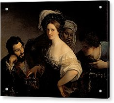 The Young Courtesan Acrylic Print by Alexandre Francois Xavier Sigalon