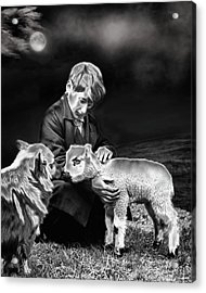 The Young Ones Acrylic Print by Pennie  McCracken