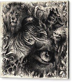 The Zoo Girl Acrylic Print by Rachel Christine Nowicki