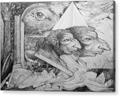The Zwerg Nase Twins Dreaming Of World Domination Acrylic Print by Otto Rapp