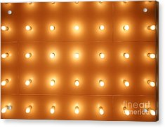 Theatre Lights Pattern Picture Acrylic Print by Paul Velgos