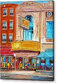 Theatre Rialto Ave. Du Parc Montreal Acrylic Print by Carole Spandau