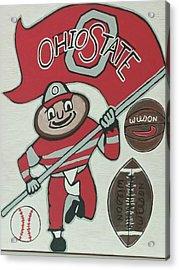 Thee Ohio State Buckeyes Acrylic Print