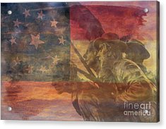 Their Final Charge At Gettysburg Acrylic Print