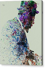 Thelonious Monk Watercolor 1 Acrylic Print by Naxart Studio
