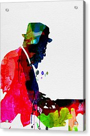 Thelonious Watercolor Acrylic Print by Naxart Studio
