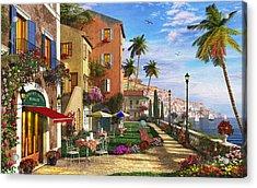 Themed Terrace Acrylic Print by Dominic Davison