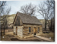 Theodore Roosevelt Cabin Side Acrylic Print