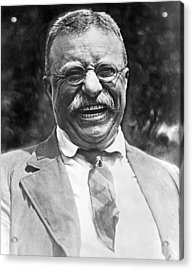 Theodore Roosevelt Laughing Acrylic Print by International  Images