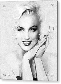 Theo's Marilyn 133 Bw Acrylic Print