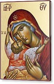 Theotokos Kardiotissa I Acrylic Print by Julia Bridget Hayes
