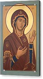 Theotokos Acrylic Print by Phillip Schwartz