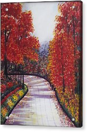 There Is Always A Bright Road Ahead Acrylic Print by Usha Rai