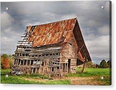 There Was A Crooked Barn Acrylic Print by Kim Hojnacki