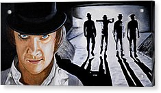 There Was Me That Is Alex And My Three Droogs Acrylic Print by Al  Molina