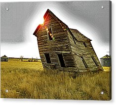 There Was Once A Crooked House Acrylic Print